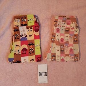 Set of 2-Lularoe Disney Toy Story leggings tween